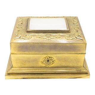 French Louis XVI Bronze Dore Box For Sale