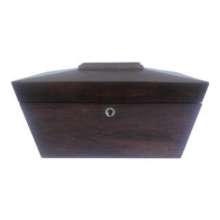 Early 19th Century English Regency Sarcophagus Form Tea Caddy For Sale