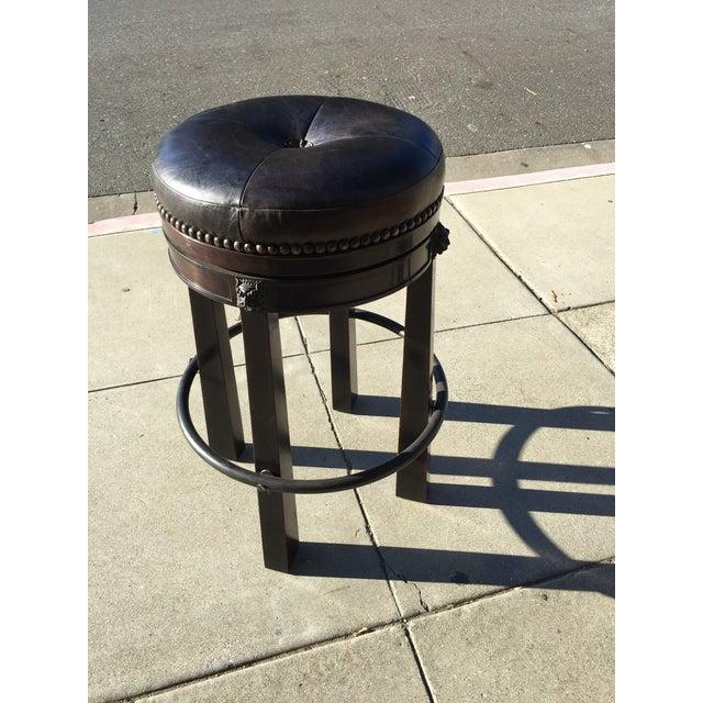 Stupendous Theodore Alexander Leather Swivel Bar Stool Short Links Chair Design For Home Short Linksinfo