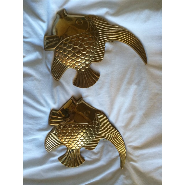 Vintage Brass Angel Fish - A Pair - Image 2 of 7