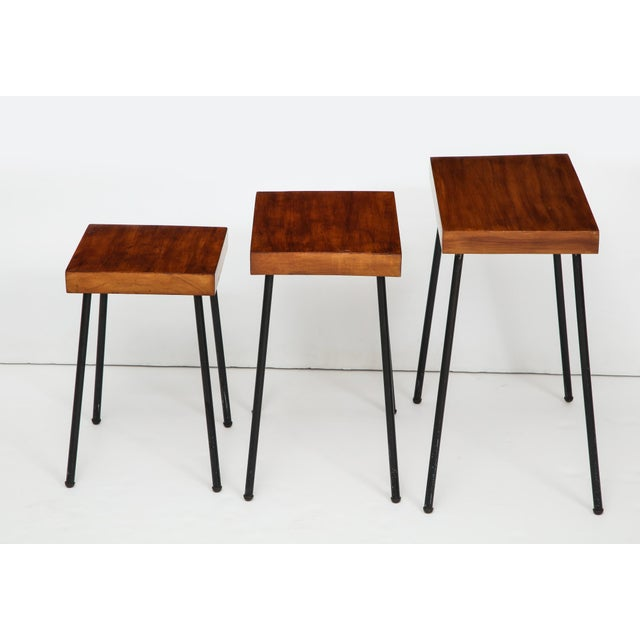 Mid-Century Modern 1960s David Wurster for Raymor Nest of Tables - Set of 3 For Sale - Image 3 of 12