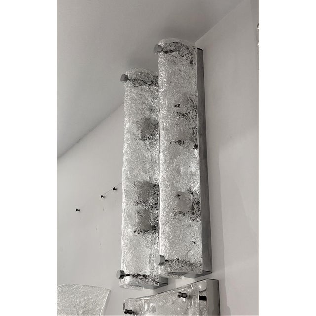 Mid-Century Modern Doria Leuchten Eisglas Sconces - a Pair For Sale - Image 9 of 13