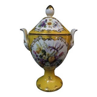 Chelsea House Paint Decorated Porcelain Vase For Sale