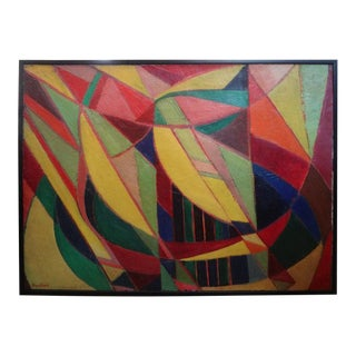 French Cubist Oil on Canvas Signed Roger Carle For Sale