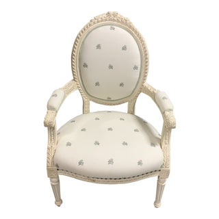 Vintage French Country Arm Chair For Sale