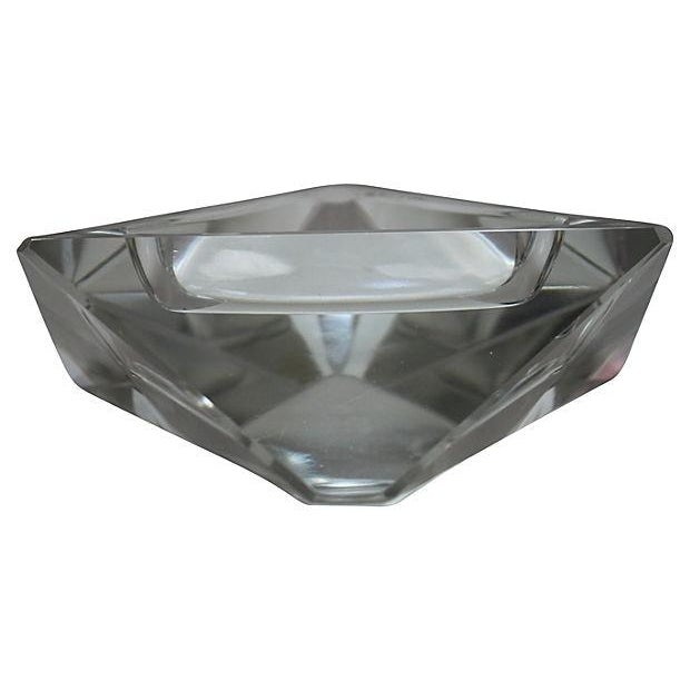 Modern Triangular Lead Crystal Ashtray For Sale - Image 3 of 4