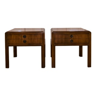 1980s Drexel Heritage Campaign Accolade Nightstands - a Pair For Sale