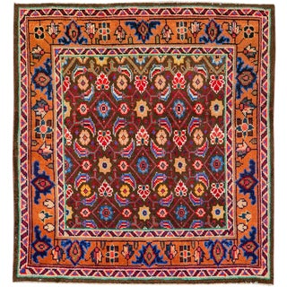 """Vintage Persian Mahal Rug – Size: 2' 11"""" X 3'1"""" For Sale"""