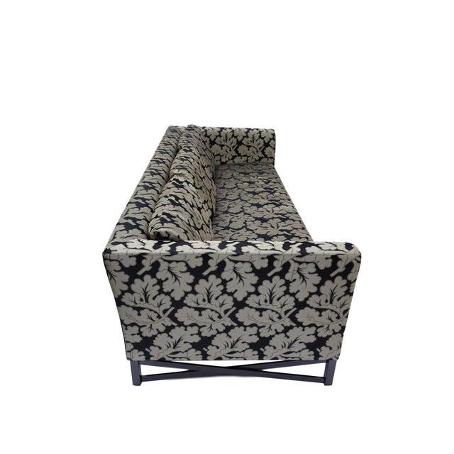 Contemporary Armani Casa Silk Fig Leaf Tuxedo Sofa For Sale - Image 3 of 10