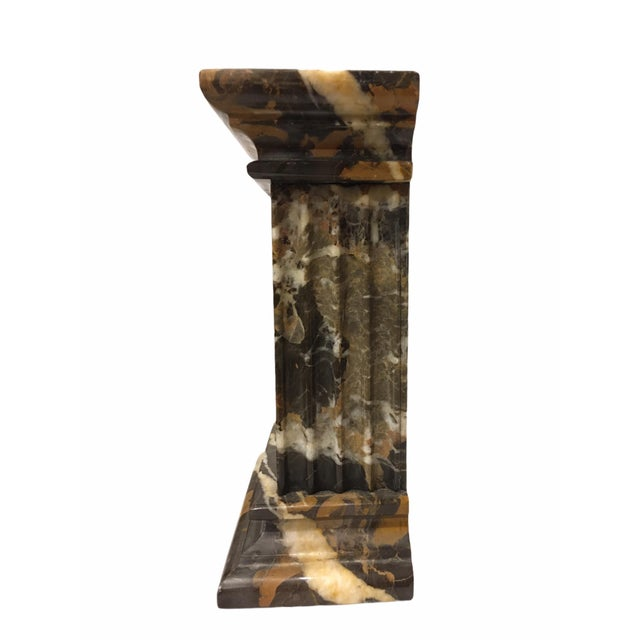 Vintage Neoclassical Marble Bookends - a Pair For Sale In San Francisco - Image 6 of 9