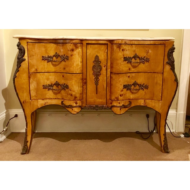 Antique Italian Serpentine Chest For Sale - Image 4 of 11