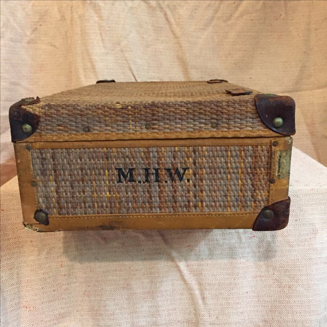 Rattan Suitcase For Sale - Image 4 of 11