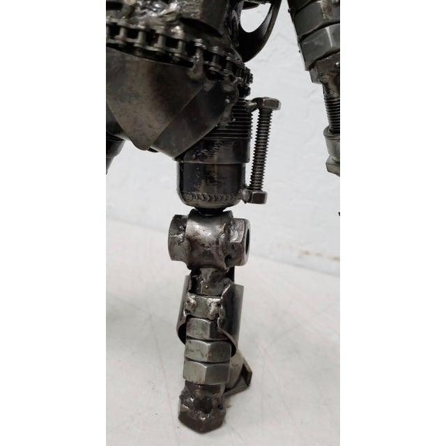 Heavy Gauge Scrap Metal Robot Sculpture For Sale - Image 4 of 9