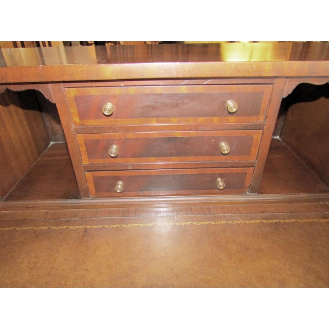 Sheraton Style Mahogany Carlton House Desk For Sale - Image 5 of 6