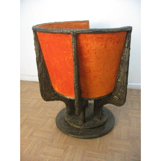 Brutalist Set Four Paul Evans Sculpted Bronze Chairs For Sale - Image 3 of 8
