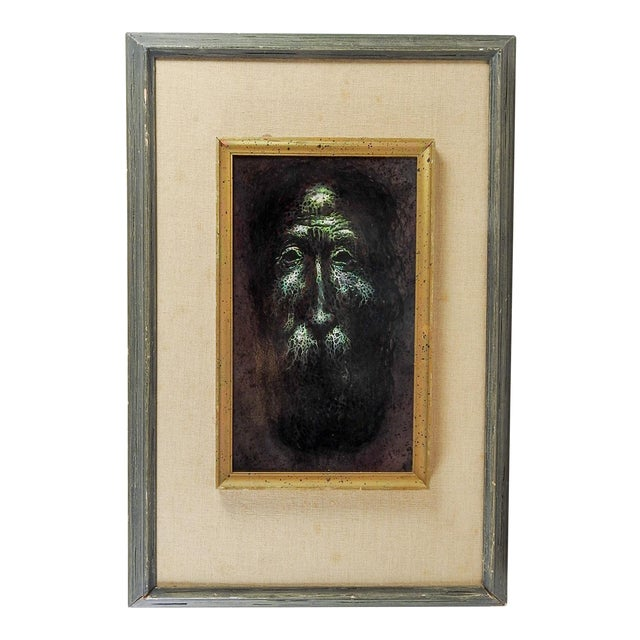 Mythical Green Man Oil Painting For Sale