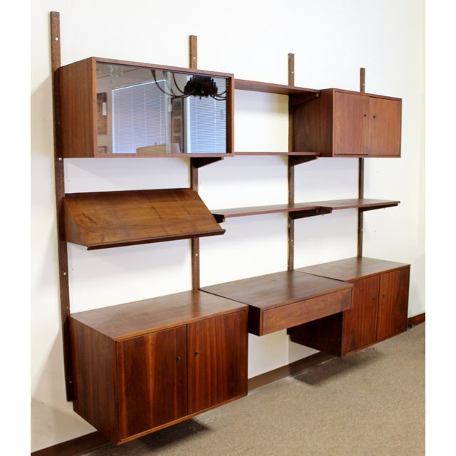 Brown Mid Century Modern Danish Cado Walnut Wall Unit by Poul Cadovious For Sale - Image 8 of 8