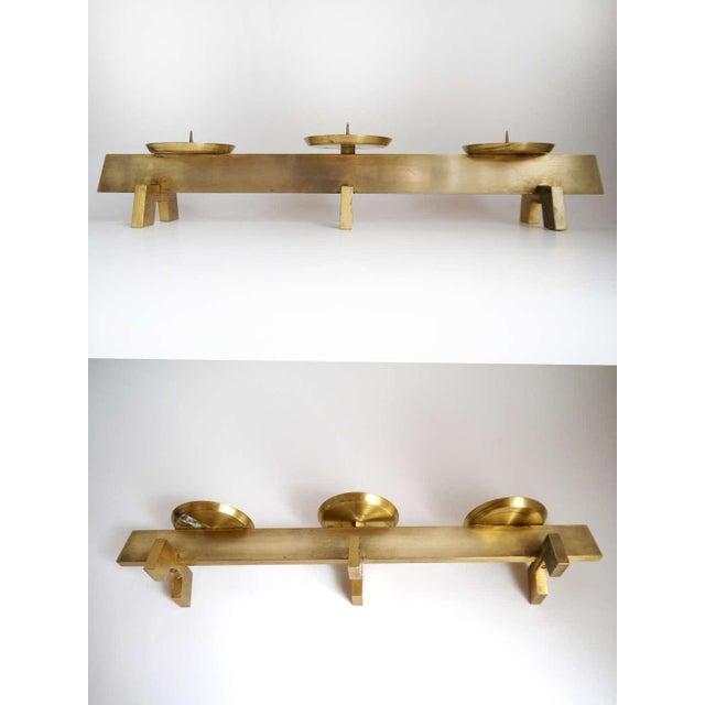 Vintage Mid Century Modern Scandinavian Brass Candle Holder Lovely Vintage Piece Heavy Solid Brass Candle Holder Holds...