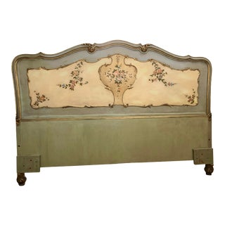Antique Venetian Baroque Painted Queen Headboard For Sale