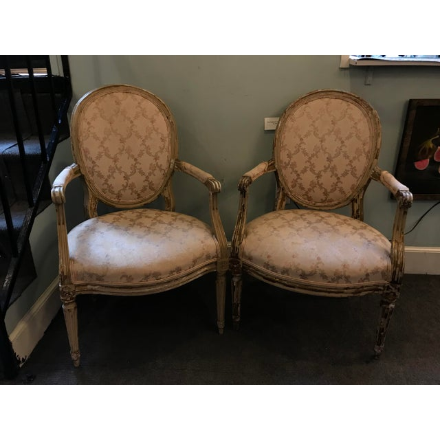 Beige Early 20th Century French Louis XV Style Chairs - a Pair For Sale - Image 8 of 8