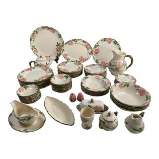 1930s Franciscan Rose Pattern Dinnerware For Sale