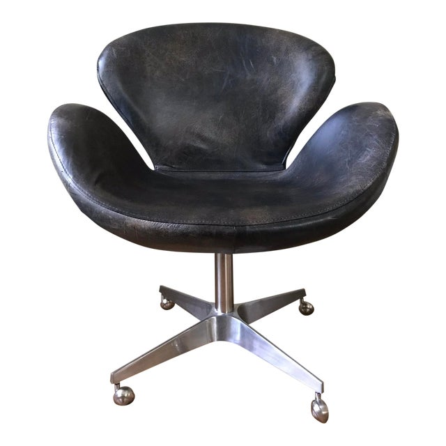 "Mid-Century Modern Restoration Hardware ""Swan"" Style Chair For Sale"