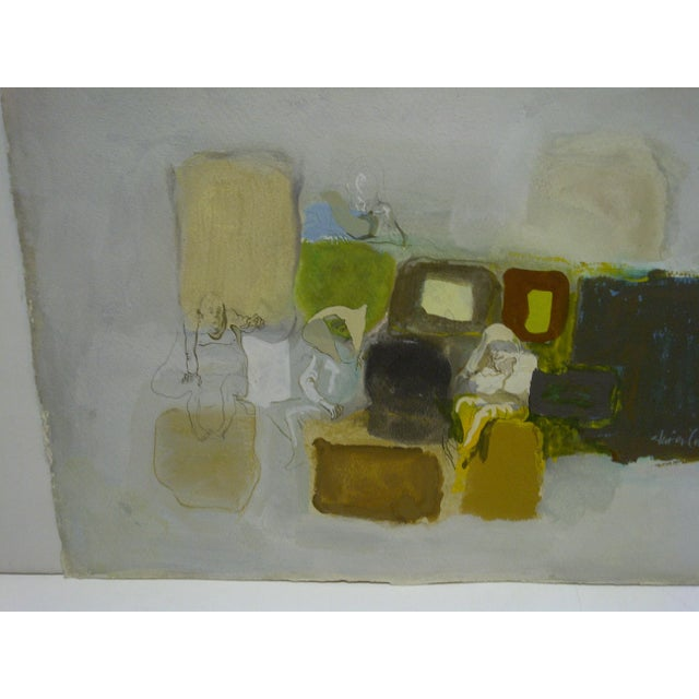 """Abstract Original Painting on Paper """"The Actors (Performing)"""" by Javier Cabada For Sale - Image 3 of 8"""