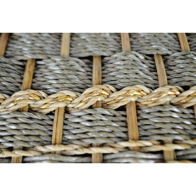 Vintage Japanese Wicker Sewing Basket For Sale - Image 9 of 13