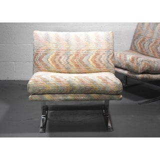1970s Vintage Adrian Pearsall for Craft Associates Chrome Base Lounge Chairs- a Pair Preview