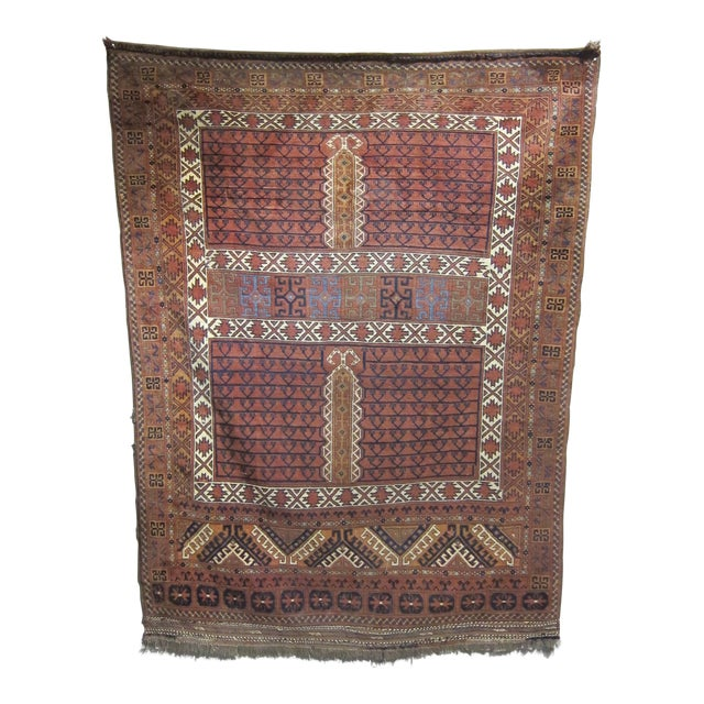 "Vintage Sarreid LTD Tribal Rug - 5' x 6'11"" - Image 1 of 6"