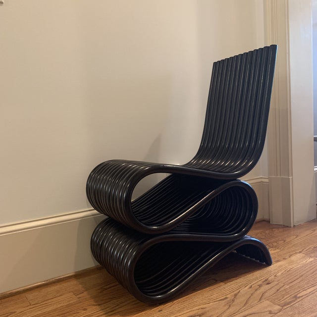 Frank Gehry Inspired Rattan Chair For Sale - Image 12 of 12