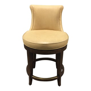 New Pearson Savannah Leather Swivel Counter Stool
