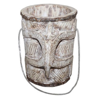 Bleached Teak Water Bucket For Sale