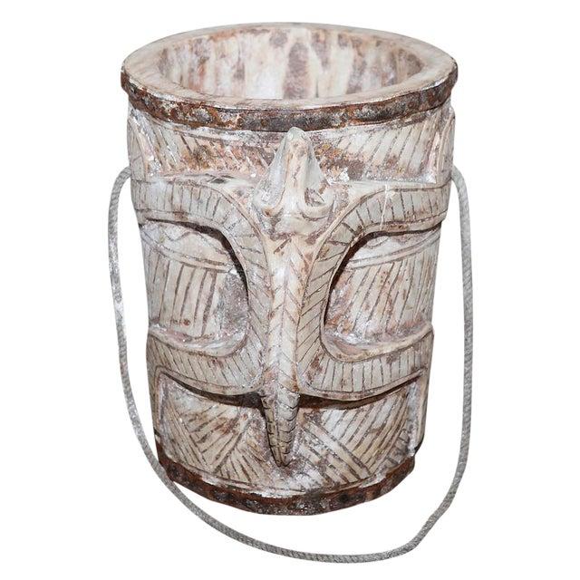 Bleached Teak Water Bucket For Sale