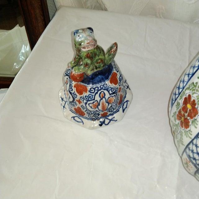 Delft Lidded Ginger Jar For Sale - Image 9 of 12