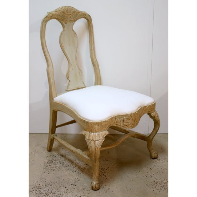 Swede Collection Swedish Rococo Dining Side Chair For Sale - Image 4 of 4