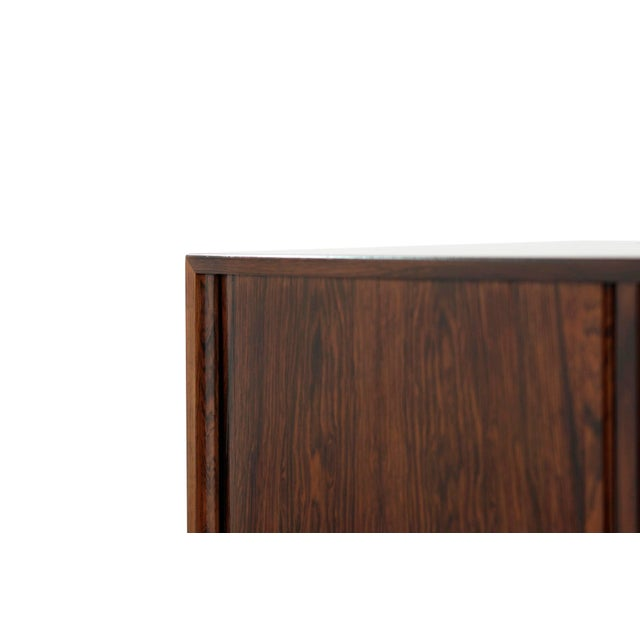 Brown Danish Modern Rosewood Liquor Cabinet, C. 1950s For Sale - Image 8 of 10