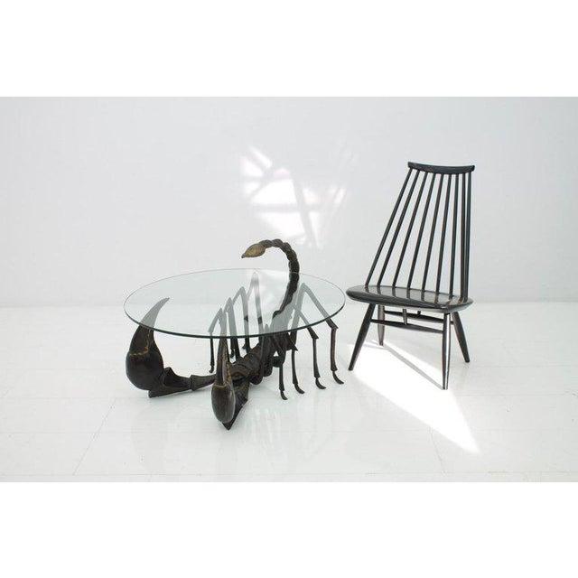 Bronze Scorpion Coffee Table Attributed to Jacques Duval-Brasseur France, 1970s For Sale - Image 10 of 11