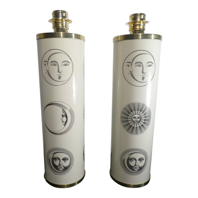 1960s Vintage Sole Fornasetti Table Lamps - a Pair For Sale