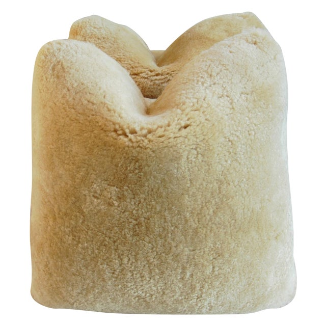 Plush Rich Golden Lambswool Pillows - Pair - Image 1 of 8