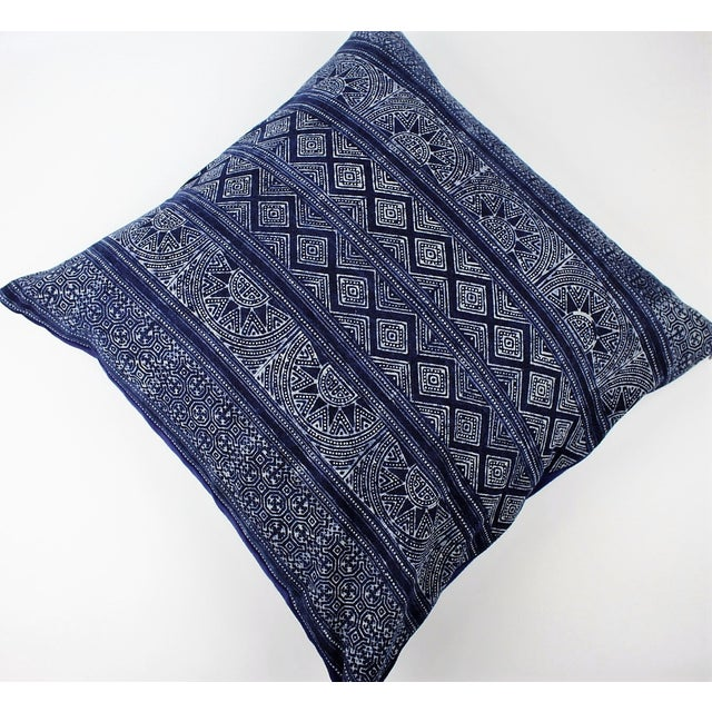 Sunray Hmong Indigo Batik Handmade Pillow Cover - Image 4 of 4