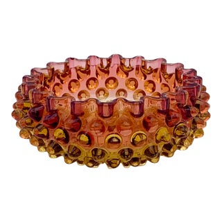 Mid 20th Century Hobnail Amberina Bowl For Sale