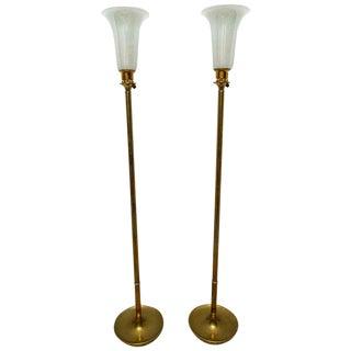 Art Deco 1920s Rembrant Torchère Lamps - a Pair For Sale