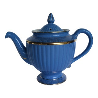 Hall Blue Ridged Teapot For Sale