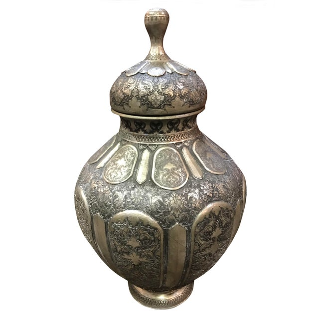 Antique 19th Century Middle Eastern Silver Urn For Sale In Dallas - Image 6 of 6