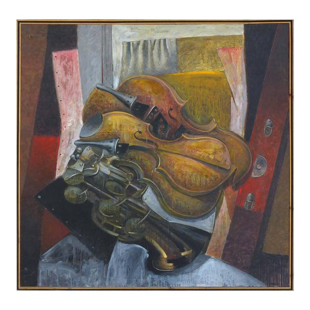 """Impetuous Violinist"", Oil on Canvas by Jesus Marcos For Sale"