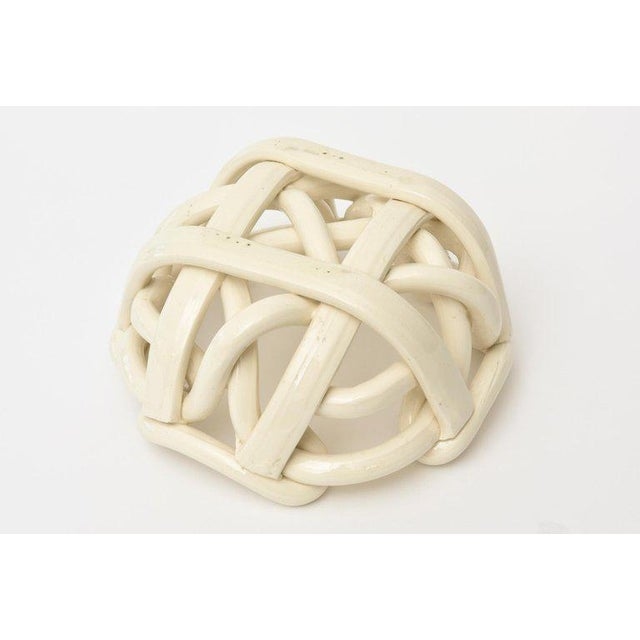 Twisted Coiled Ceramic Sculptural Bowl For Sale - Image 10 of 11