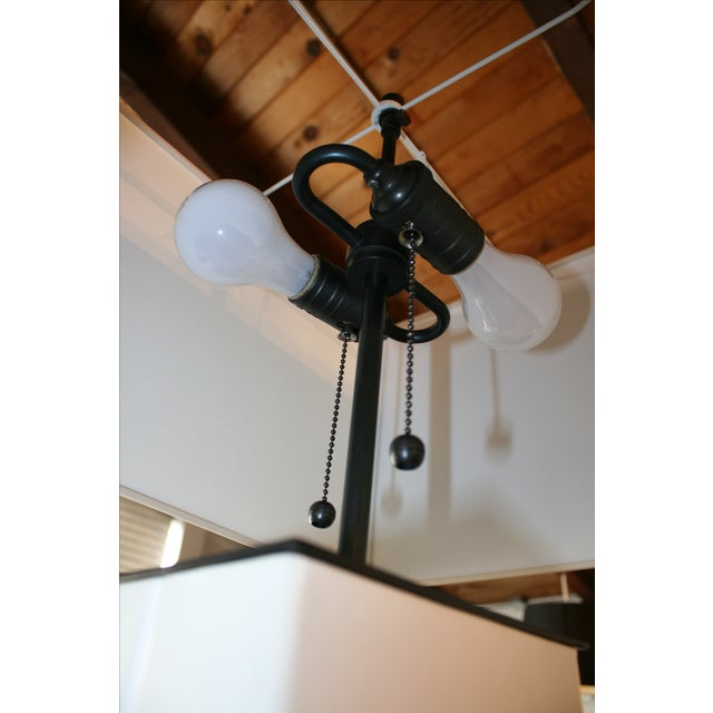 Visual Comfort Dixon Parchment Leather Lamp For Sale - Image 4 of 4