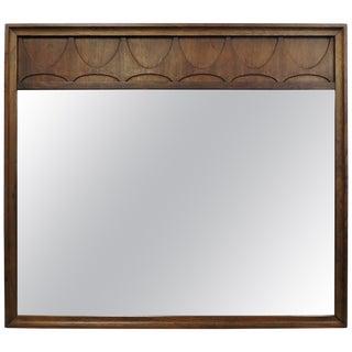 Broyhill Brasilia Mid-Century Modern Walnut Wall Mirror For Sale