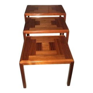 Danish Modern Vejle Stole & Mobelfabrik Teak Side Tables - Set of 3 For Sale